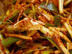 Kimchi extreme closeup