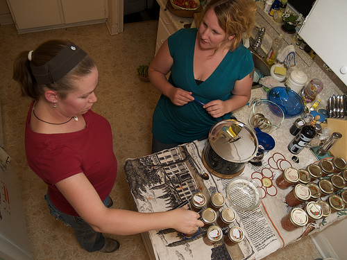 Alice and I, canning up a storm