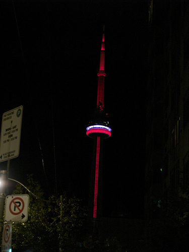 Nuit Blanche 2008 - CN Tower