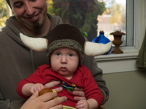 Mr. C's new viking hat