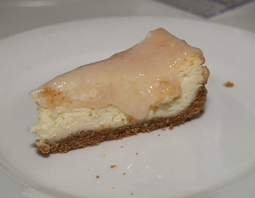 Cheesecake with Lychee Sauce