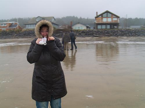Icky rain at Cannon Beach!!!