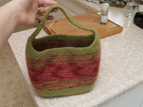 Felted tote for Larissa