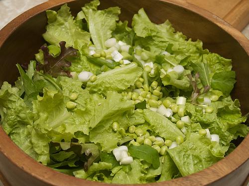 Capuchijners Peas, in salad