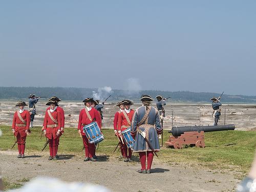 Fortress of Louisbourg muscat firing
