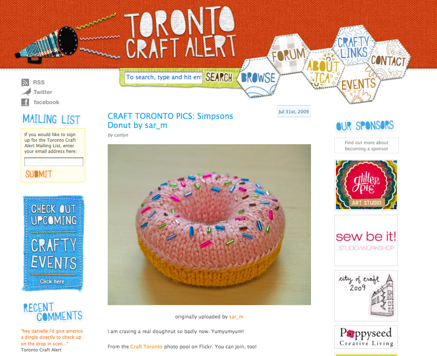 My donut on Toronto Craft Alert