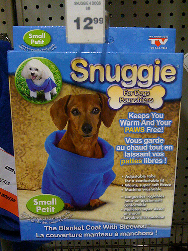 Snuggie for Dogs?!