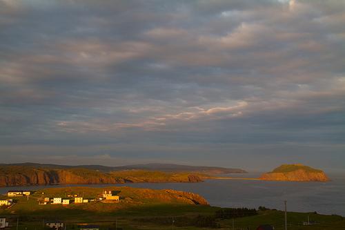 Sunseet over Trinity Bay