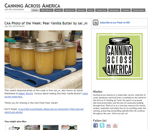 Canning Across America's Photo of the Week!