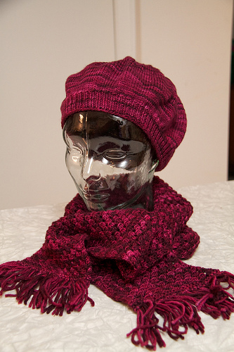 Beret and scarf for Grama