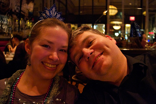 Me and my man ringing in 2011