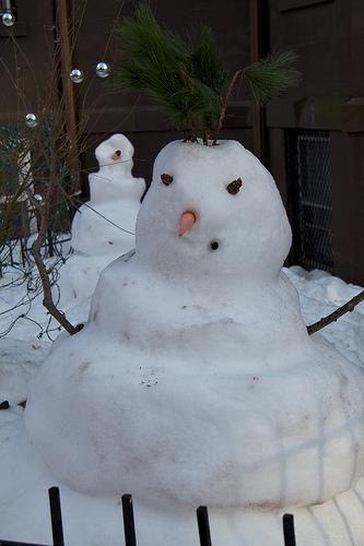 Squat snowman