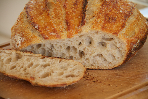 Beautiful crumb, with evenly distributed holes