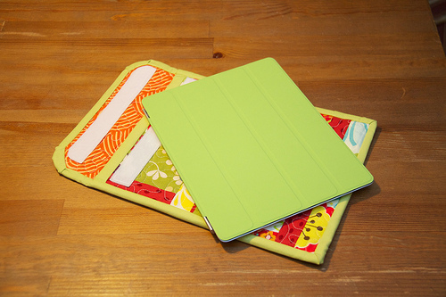 my iPad and the case I made