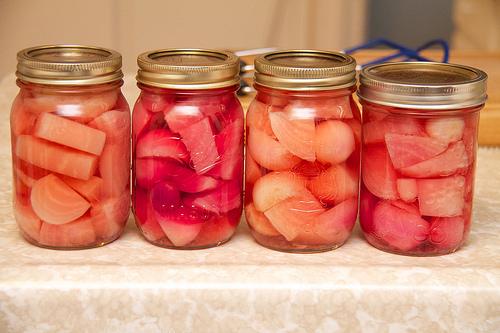 Pickled Chioggia Beets