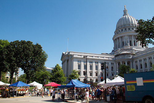 Farmers' Market around the capitol building