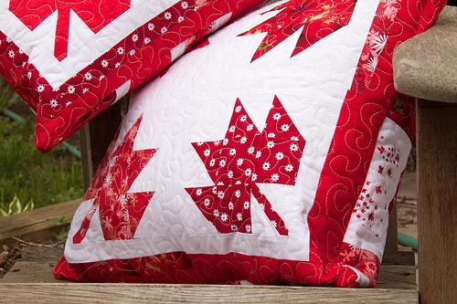 Maple Leaf Pillow detail