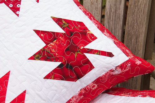 Maple Leaf Pillow detail