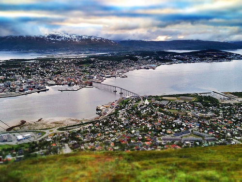 Midnight sun (sort of) in Tromsø
