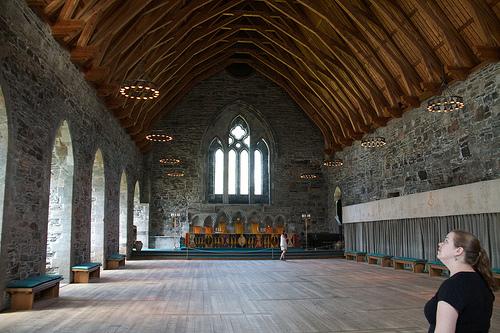 Inside Håkonshallen