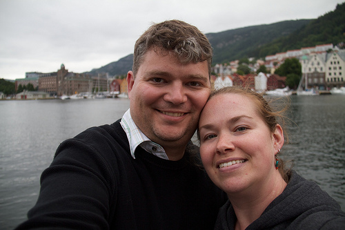 Us in Bergen, Norway