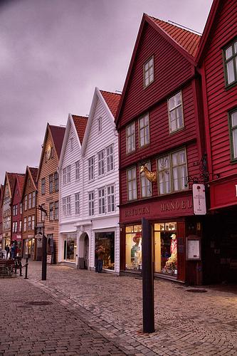 Dusk at Bryggen