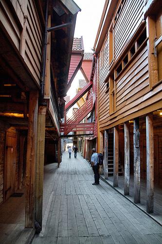 Exploring Bryggen in Bergen