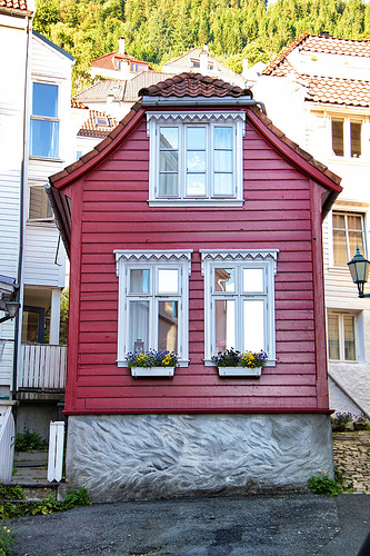 Hillside house, in Bergen
