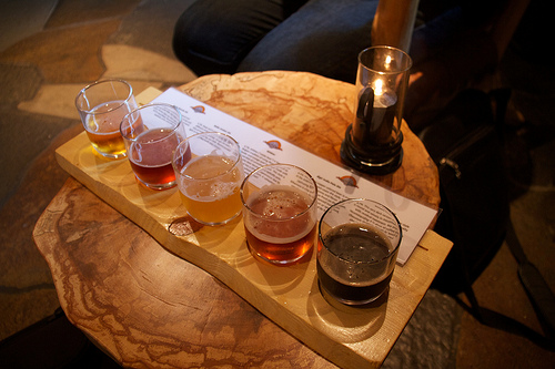 Ægir Brewery beer flight