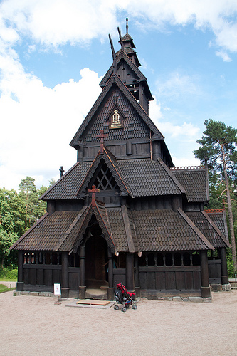 Stave Church from Gol at the Norsk Folkemuseum