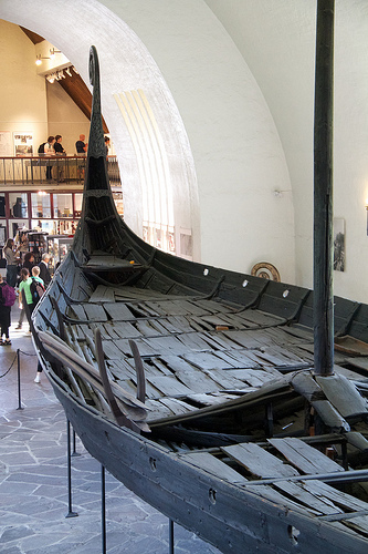 A view into the Oseberg Ship