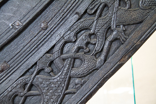 Carvings on the Oseberg Ship