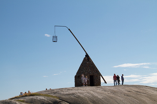 The old lighthouse at Verdens Ende, Norway