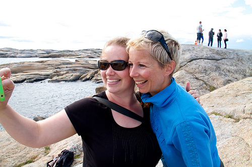 With my friend Guro at Verdens Ende, Norway