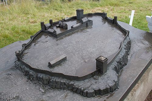 Model of Tønsberg Fortress, as it once was