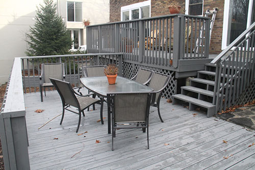 View of some of the decking.