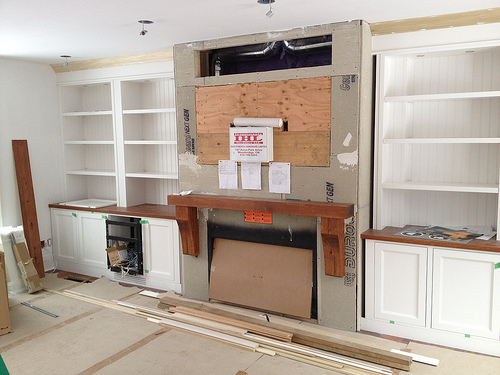 Living Room Built-in Cabinetry