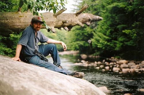 Dad at Otter Creek, NY