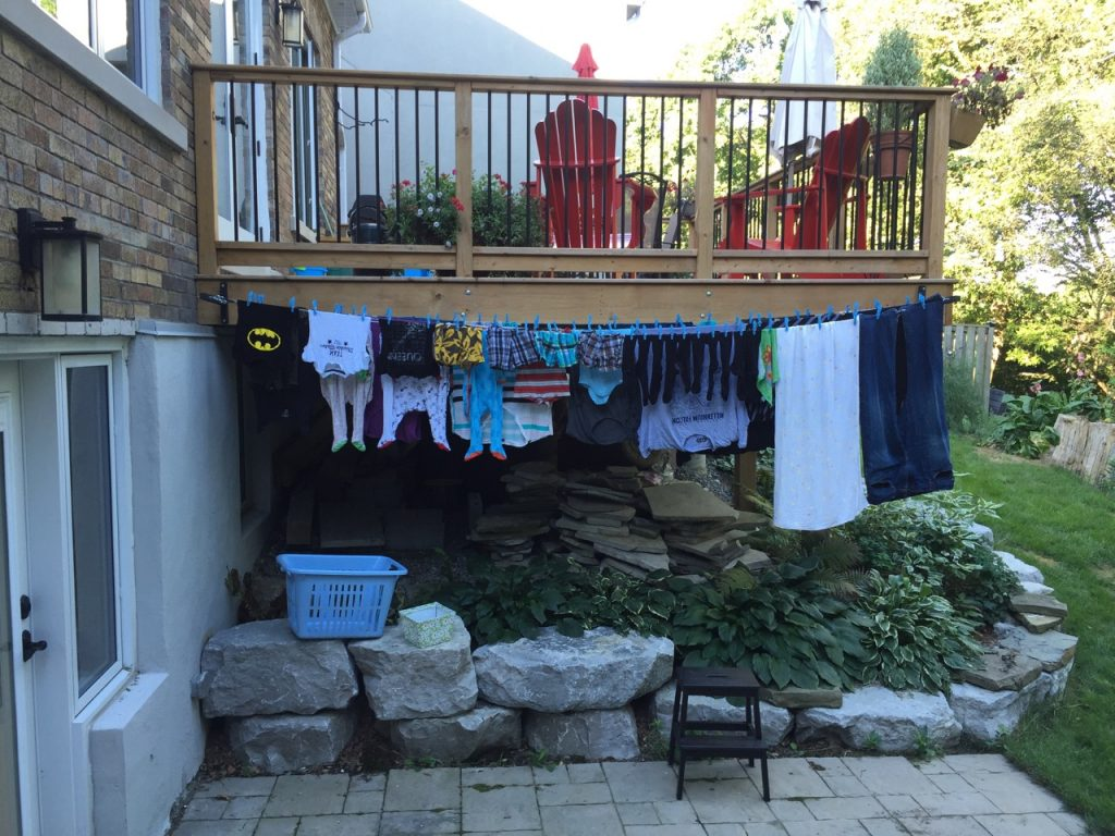 Clothesline hack genius