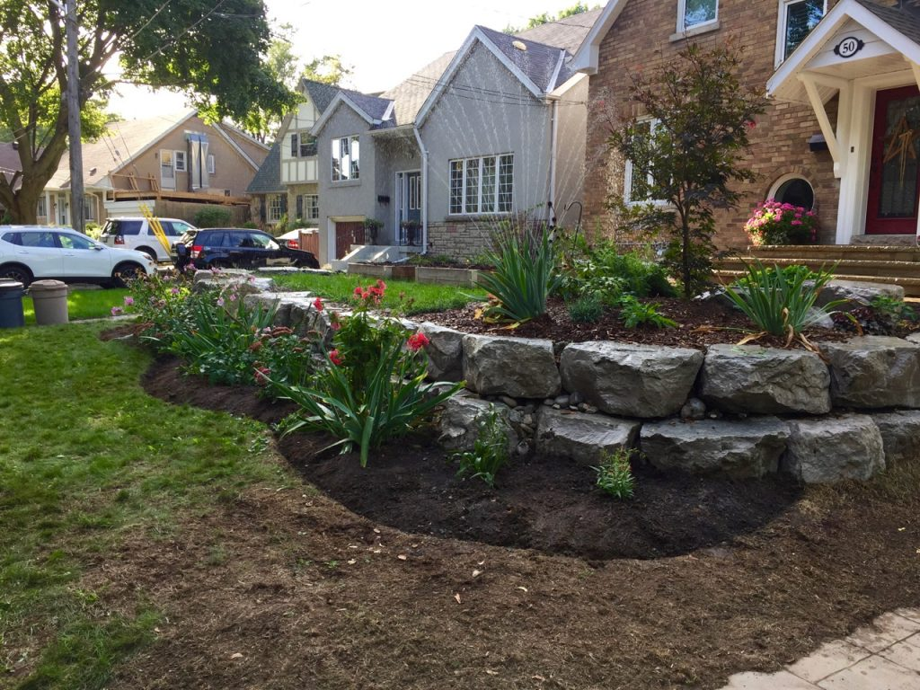Expanded flowerbed