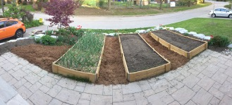 New, larger raised beds